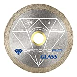 QEP 6-4006GLQ Glass Series 4 Inch Wet Tile Saw Continuous Rim Diamond Glass Cutting Blade,Silver