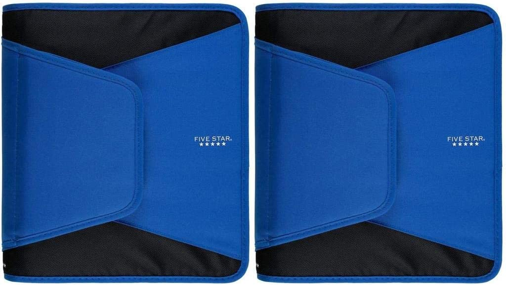 Five Baltimore Mall Star Zipper Binder 1-1 2 Expa Ring mart Inch 3-Pocket 3