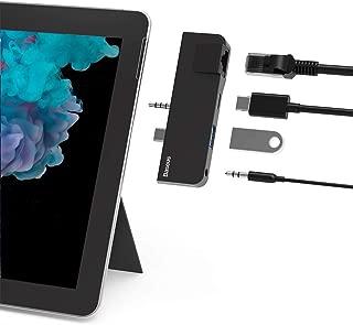 Surface Go Docking Station, Baseus Microsoft Surface Go Type C Hub Adapter Dongle with RJ45 Gigabit Ethernet Port, USB 3.0 Port, USB-C Data Sync Port, 3.5mm Audio/Headphone Jack