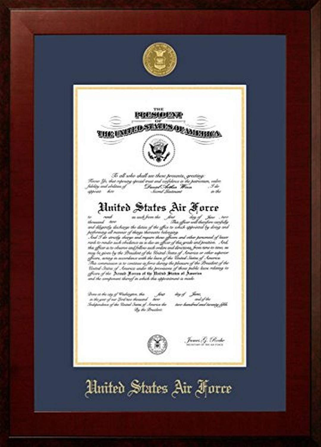 Campus Images AFCHO0018.5x11 Air Honors Certificate Force Limited price Frame Super intense SALE