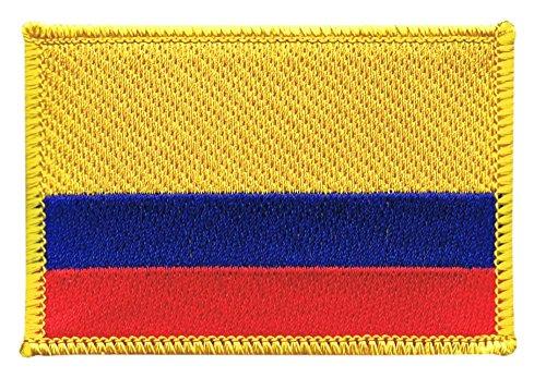 Flaggenfritze Flaggen Aufnäher Kolumbien Fahne Patch + gratis Aufkleber