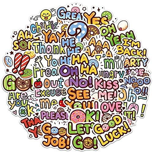 Frases inspiradoras lindas pegatinas inspiradoras citas vida DIY Notebook teléfono móvil scrapbook dibujos animados pegatinas etiqueta juguetes