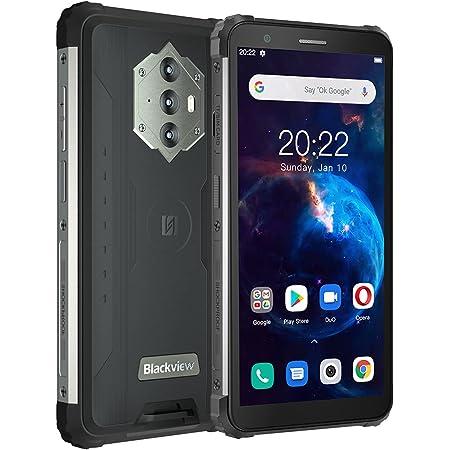 "Blackview BV6600 Teléfono Movil Resistente, 8580mAh Batería, 4GB+64GB(SD 128GB) Octa-Core, Pantalla 5.7""HD+, 16MP+8MP Cámara,Android 10 Impermeable Smartphone,Dual SIM 4G,Carga Inversa,NFC,Tipo C,GPS"