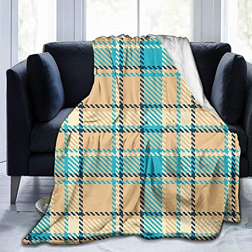80'x60'Blanket and Cozy Soft Fleece Mink Micro Plush Wrap Throws Blanket Robe for Women and Men Zigzag Patterned Lines Ancient Celtic Culture Inspired Fashion
