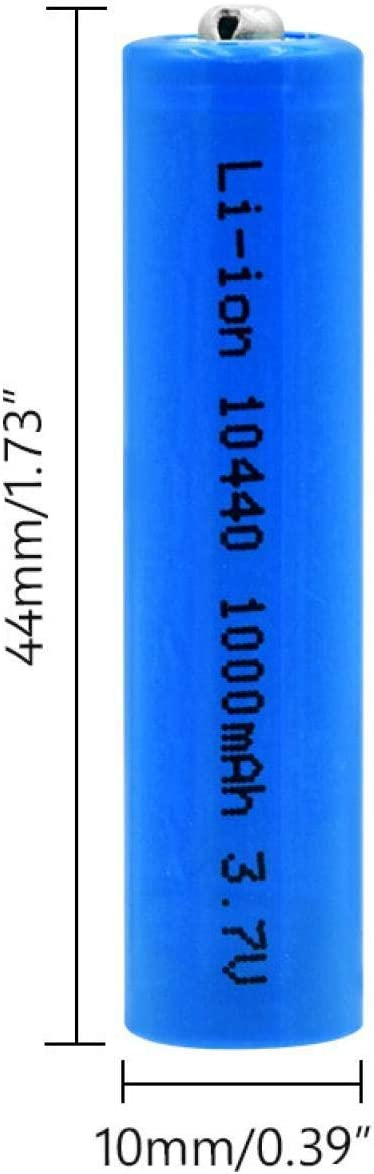 3.7v 1000mah Lithium Li Ion Replacement Cells for Torch Electric Razor Mouse 4pcs softpoint New 10440 Lithium Ion Batteries