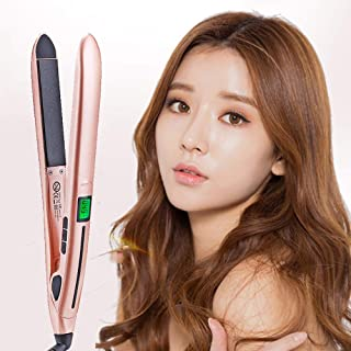 Hair Straighteners, Professional 2 in 1 Ceramic Flat Iron for Hair - Straightens & Curls with Adjustable Temp from 140℃-23...