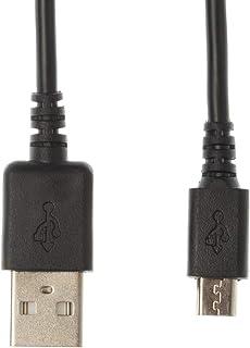 Kingfisher Technology - 2m zwarte USB-oplader Opladen Vermogen en Data Sync Kabel Adapter (22AWG) Compatibel met Sony Digi...