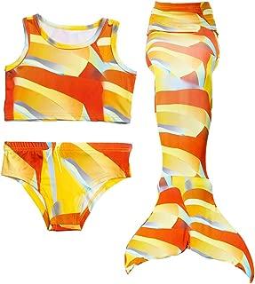 Wiwsi New Swimming Costume Kid Bikini Swimwear Swimsuit Mermaid Princess Cosplay