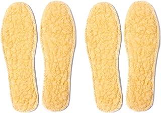 2 Pares Plantillas de Lana-Ideal para Botas, Zapatos Invierno, Zapatos Planos, Cálidas y Cómodas Contra el Frío Invierno, Mantiene Calor, Cojín Ultra Suave, Transpirable, Niños Unisexo,25-42EU