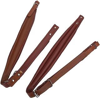 Adjustable PU Leather Accordion Shoulder Straps Set Comfortable Accordion Belt Set Soft Wear-resistant Accordion straps for 16-120 Bass Accordions (Coffee)