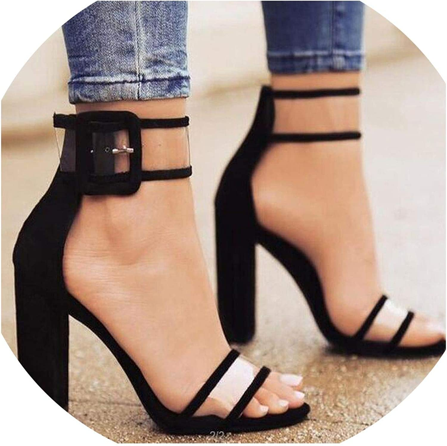 Hot Style in Europe and The Ultra-High Hollow Out Thick with Sandal Strap Roman Women shoes