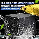 ELEDUCTMON Eco-Aquarium Water Purifier Cube Filter Activated Carbon Ultra Strong Filtration and Absorption