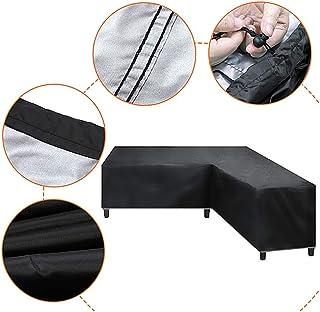 Copertura per divano angolare Protezione antipolvere duraturo resistente allacqua Protezione solare per esterno Protezione per esterni per divani in rattan Mobili da giardino