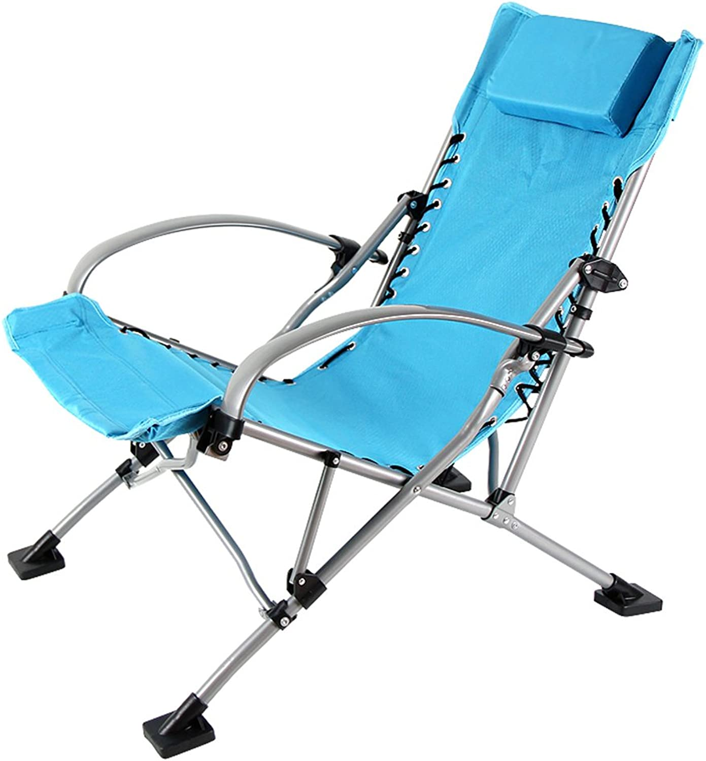 XRXY Multifunction Comfortable Portable Folding Chair Alloy Reinforce Office Siesta Chair Outdoor Portable Space-Saving Beach Fishing Lounge Chair