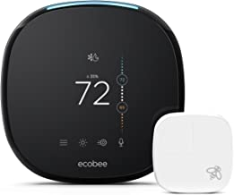 Ecobee4 Alexa-Enabled Thermostat with 2 Extra Sensors - Smarter Bundle Package