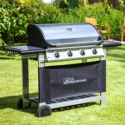 Everest 4 Burner Gas Barbecue - Stainless Steel