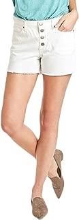 DEAR JOHN DSM71A023 Melissa Button Front Short in Optic White