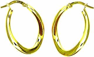 Pegaso Joyería–Pendientes oro amarillo 18kt Círculos Ovales–Mossi Lucidi Mujer Niña