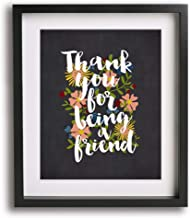 Thank You For Being A Friend (Golden Girls theme song) inspired song lyric art print, home decor gift idea
