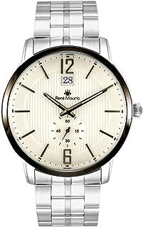 René Mouris 44mm Classic Quartz Watch for Men | Executive | Stainless Steel Band