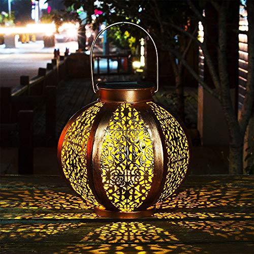 Faroles Solares Exteriores Luz Linerna Solar Colgante Luces Jardines Decorativas Lámpara Exterior...