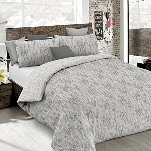 Italian Bed Linen CP-Em BEIGE-2P Copripiumino Emotion in Cotone con Sacco e federe Stampate, Graffiti Beige, 2 Posti