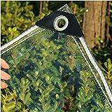 ZGLCQSGY 1m X 1.5m Lona Plástico Transparente Impermeable de PVC para El Paño Lluvia Balcón Ventana Patio Al Aire Libre Toldos, Distancia del Agujero 50 cm