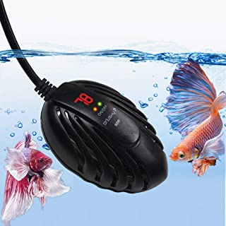 Orlushy Mini Aquarium Heater 50W 100W 150W,Small Fish Tank Heater with LED Digital Temperature Display and External Temperature Controller for Betta Frogs Newts Turtles