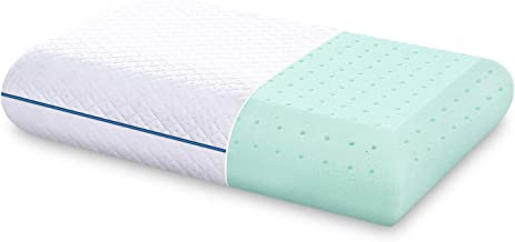 DOYEE Memory Foam Pillow, Comfort Cooling Gel Bed Pillows for Sleeping with Washable Removable Cover Good for Back and Side Sleepers - Standard Size, 16 x 26 Pillow Insert