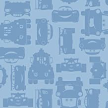 York Wallcoverings Walt Disney Kids II Lightning and Mater Wallpaper Memo Sample, 8-Inch x 10-Inch, Light and Medium Blue