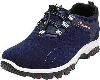Zapatos Deportes de hombre correa,Sonnena Botas de montaña de los hombres de moda Zapatos de senderismo impermeables Zapatillas de deporte al aire libre Flock