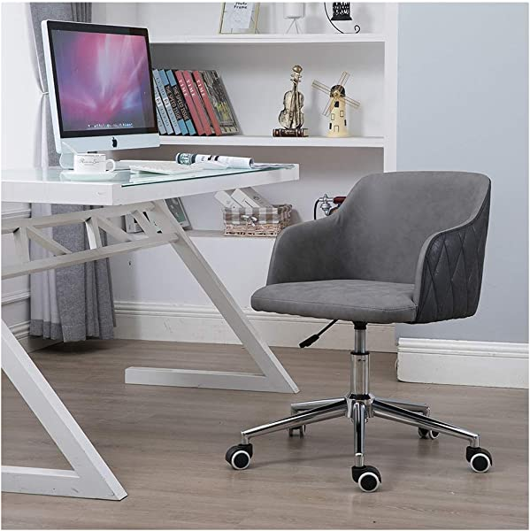 Follure Modern Home Office Chair Chic Adjustable Sofa Chair Computer Chair Study Room Chair With Wheels Stylish Design Ergonomic Desk Chair 20 17 52cm 44cm A