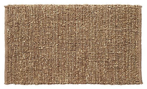 HF by LT Boho Market Sophia Braided Seagrass and Jute Doormat, 18 x 30 inches, Durable and Sustainable Handwoven Seagrass and Jute, Static Free, Stain Resistant, Beige