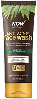WOW Skin Science Anti Acne Face Wash - Oil Free - No Parabens, Sulphate, Silicones & Color (100mL)