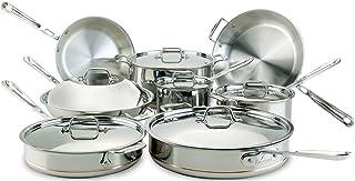 All-Clad Copper Core Cookware Set 7pc 14-Piece 8400000085