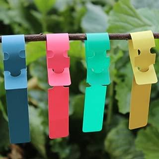 MR-LABEL Wrap Around Plastic Plant Nursery Garden Labels Tags-Waterproof- Assorted Color(100pcs)