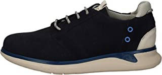 Fluchos | Zapato de Hombre | Cooper F0745 Afelpado Marino Com.3 | Zapato de Piel de Serraje | Cierre con Cordones | Piso EVA