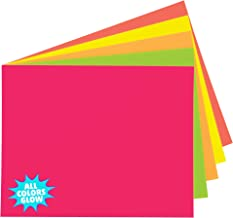 """UCreate Neon Poster Board, 5 Assorted Colors, Neon, 11"""" x 14"""", 5 Sheets"""