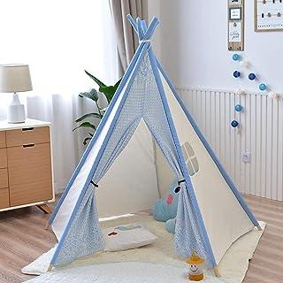 Vobajf Barn lektält barn hopfällbar tipi lektält hållbar baby småbarn tält för flickor och pojkar barn lektält (färg: Ros...