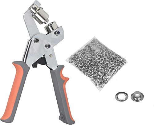 discount findmall lowest 3/8 Inch (10mm) Grommet Handheld Hole Punch outlet sale Pliers Grommet Machine Hand Press Tool W/ 500 Silver Grommets sale