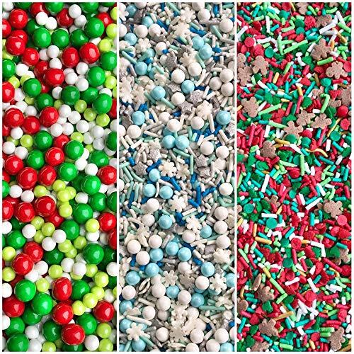 Manvscakes | 12 oz | Christmas sprinkles | Holiday sprinkles | Edible sprinkles | Cookie sprinkles | Cake sprinkles | Sprinkle mix