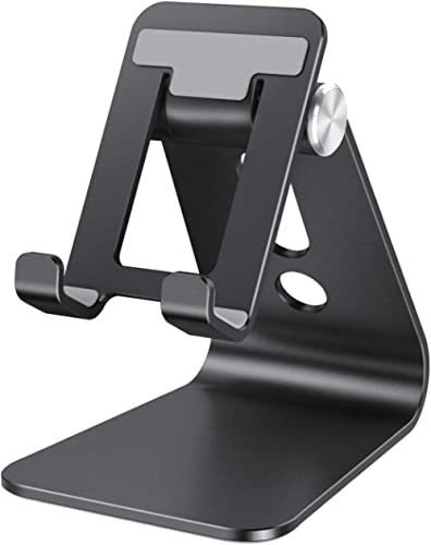 Cell Phone Stand Adjustable, OMOTON Aluminum Desktop Phone Holder Cradle Dock Compatible with All Smartphone iPhone 1...