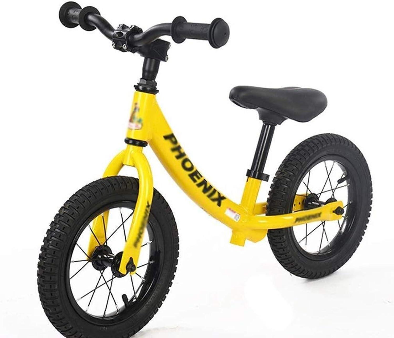 Centro comercial profesional integrado en línea. SSRS Bicicletas de Equilibrio, Equilibrio, Equilibrio, Bicicletas de Cocherera, Bicicletas de Entrenamiento de 2 a 5 años, neumáticos de 12 Pulgadas, Aluminio sin Pedales, Cocheros Ligeros (Color   amarillo )  mejor moda