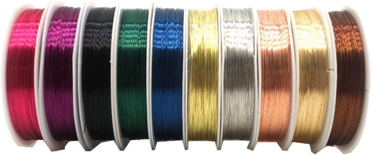 Jewelry Wire Craft 10 Limited time New mail order trial price Copper B Colored Rolls