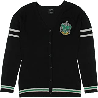 Hot Topic Harry Potter Slytherin Girls Cardigan Black XS