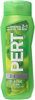 Pert Plus 2 in 1 Classic Clean Shampoo & Conditioner Medium Formula for Normal Hair 13.5 Fl Ounces / 400 Ml (Pack of 3)