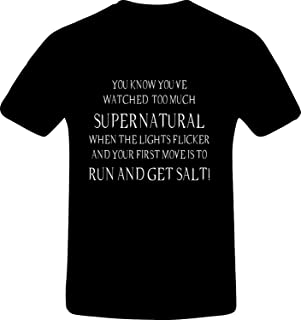 RetroGame You Know You've Watched Too Much Supernatural When The Lights FLI, Custom Tshirt
