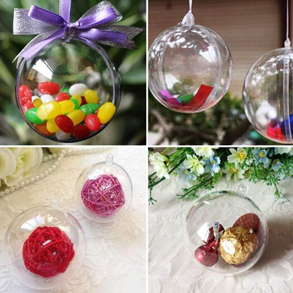 GEMVIE Bolas de Navidad Transparente DIY Bolas Decoraci/ón de Navidad Di/ámetro 4cm
