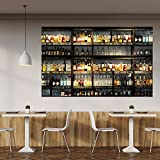 murimage Fototapete Küche 183 x 127 cm Bar Cocktail Whiskey Cognac Regal Getränke Tapete inklusive Kleister