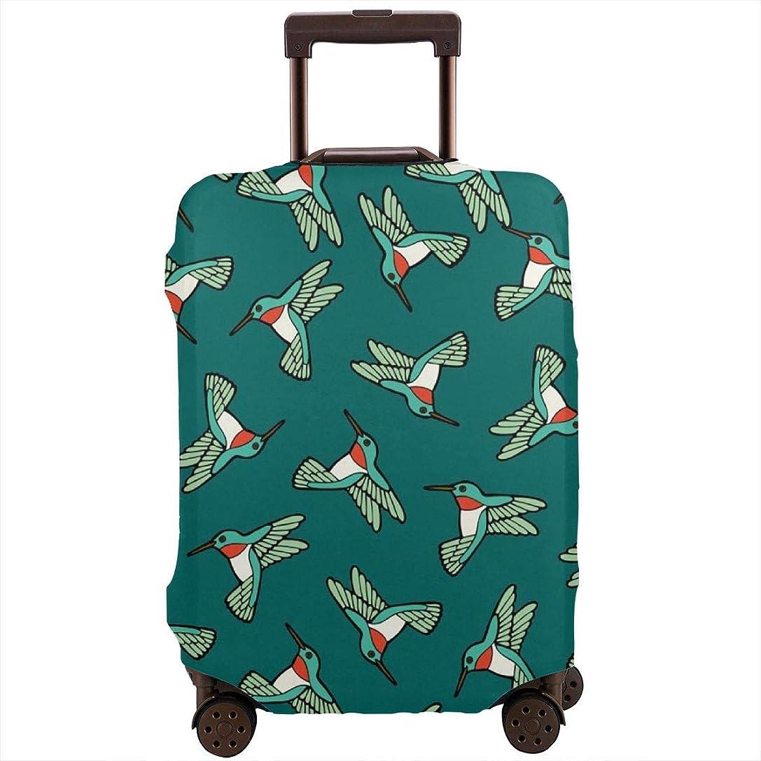 信頼できる質量放散するスーツケースカバー キャリーバッグ 鳥柄 お荷物カバー ラゲッジカバー 伸縮素材 保護 防塵 旅行 出張 便利 おしゃれ 洗える 着脱簡単S M L XL サイズ